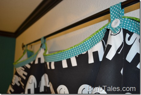 Black and white nursery valance 2