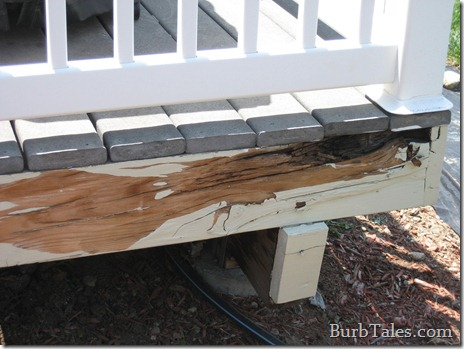 Super rotten deck skirting