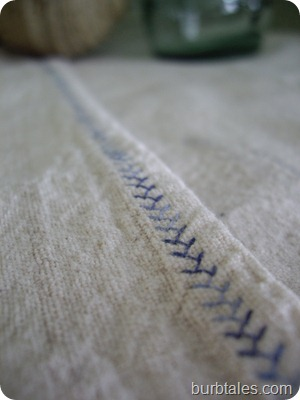 contrast stitching
