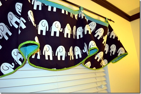 Valance for black and white nursery