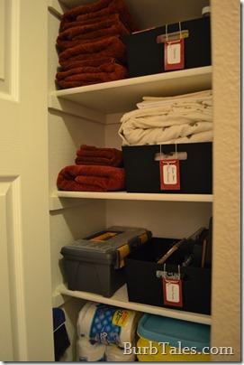 Organized hall closet 1