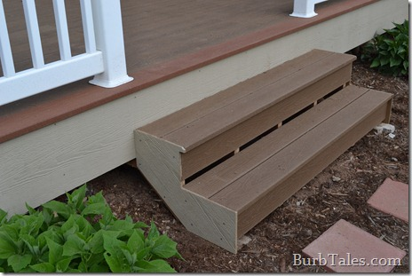 New deck stairs! And contrast composite deck edge