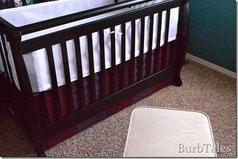 DIY rigid crib skirt