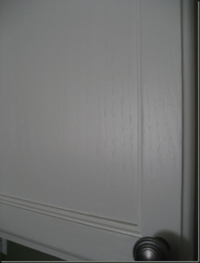 Wood grain on painted cabinets