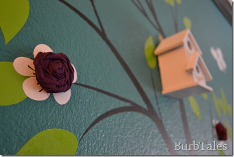 Fabric flower for nursery