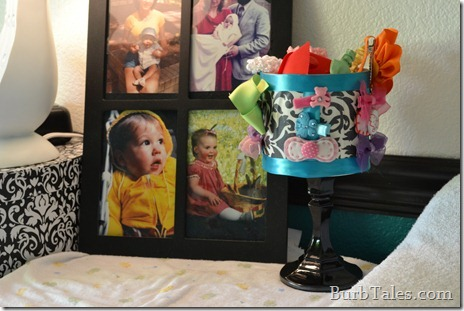 Baby barrette and headband organizer