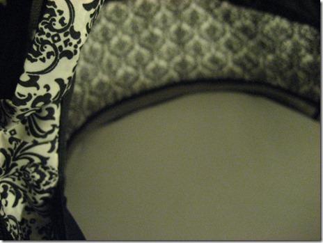 A bassinet mattress cover