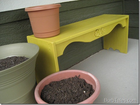 Cottage Bench on Porch