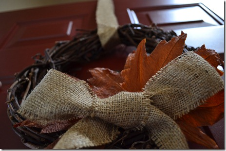 Easy fall grapevine wreath
