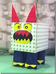 Germ monster from tissue box