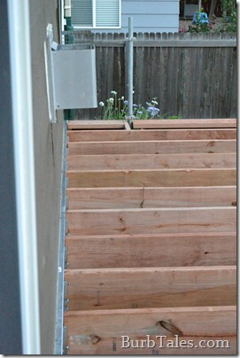 Proper deck framing and flashing